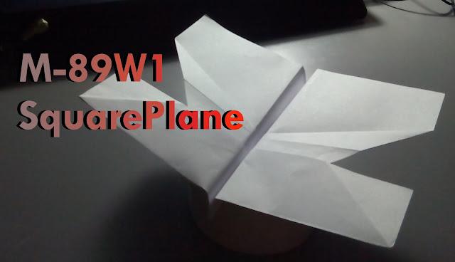 Avión de papel M-89W1 SquarePlane