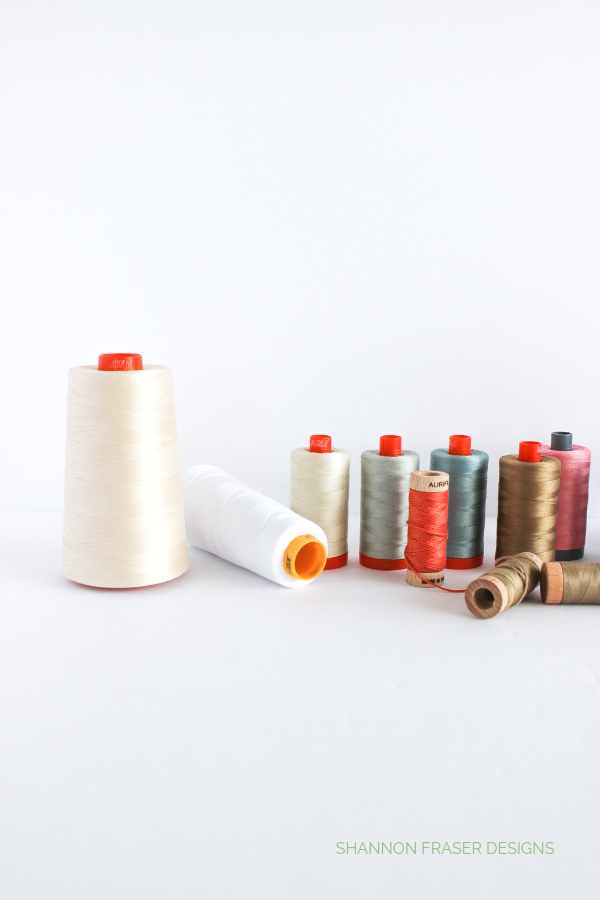 Pretty spools of thread | Aurifil Artisan Collection 2019 | Shannon Fraser Designs
