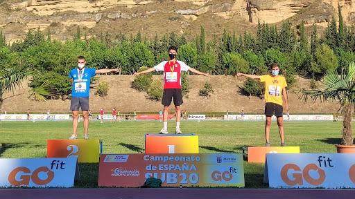 Campió d'Espanya de 1500 m.ll. Sub20
