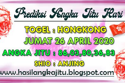 Prediksi Angka Jitu Togel Hongkong Minggu 26 April 2020