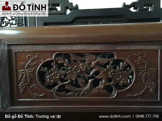 Trường kỷ đục sen vịt 20tr950 - Bộ trường kỷ cổ đẹp nhất 2017