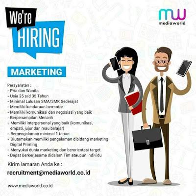 Sedang Dicarai Posisi Marketing Oleh MediaWorld