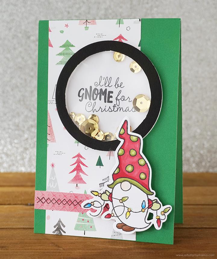 Christmas Gnome Shaker Card