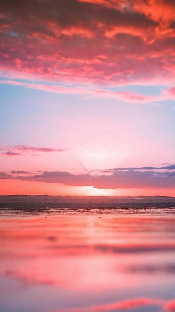 Iphone wallpaper for pink beach sunset