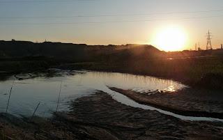 Мирноград. Донецкая обл. Пруд на реке Сенной в одноимённой балке
