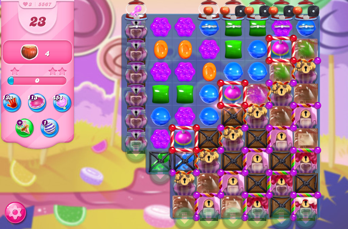 Candy Crush Saga level 5567