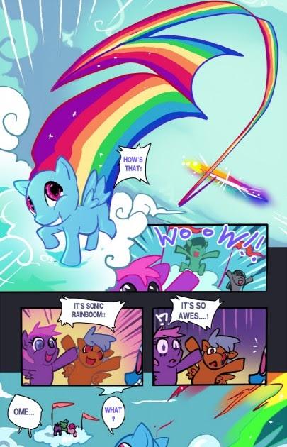 Equestria Daily Mlp Stuff Comic Sonic Rainboom Side
