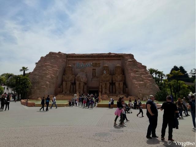 Attrazione di Ramses nel parco divertimenti