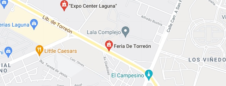 Mapa de Ubicación de recinto Feria Torreón.