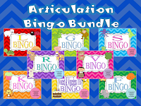 Year Long Articulation Therapy Bundle Articulation Bingo Bundle