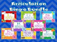 Year Long Articulation Therapy Bundle Articulation Bingo Bundle