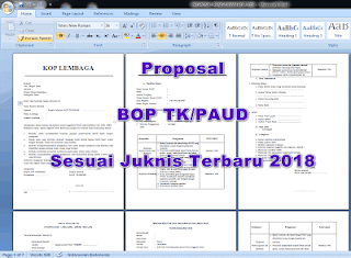 Contoh Proposal BOP PAUD Tahun 2018