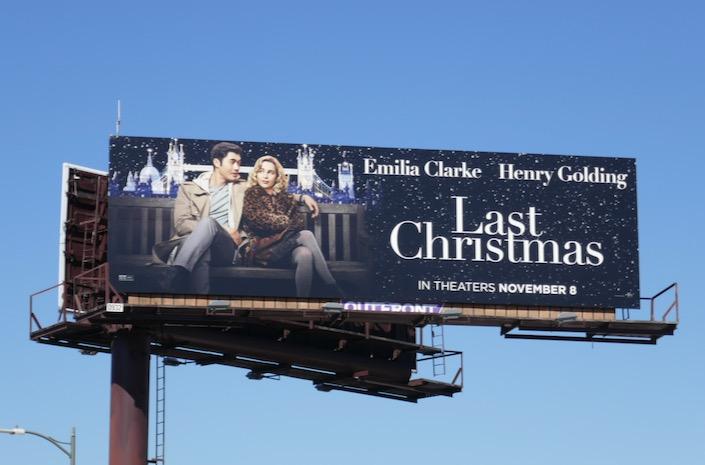 Last Christmas film billboard