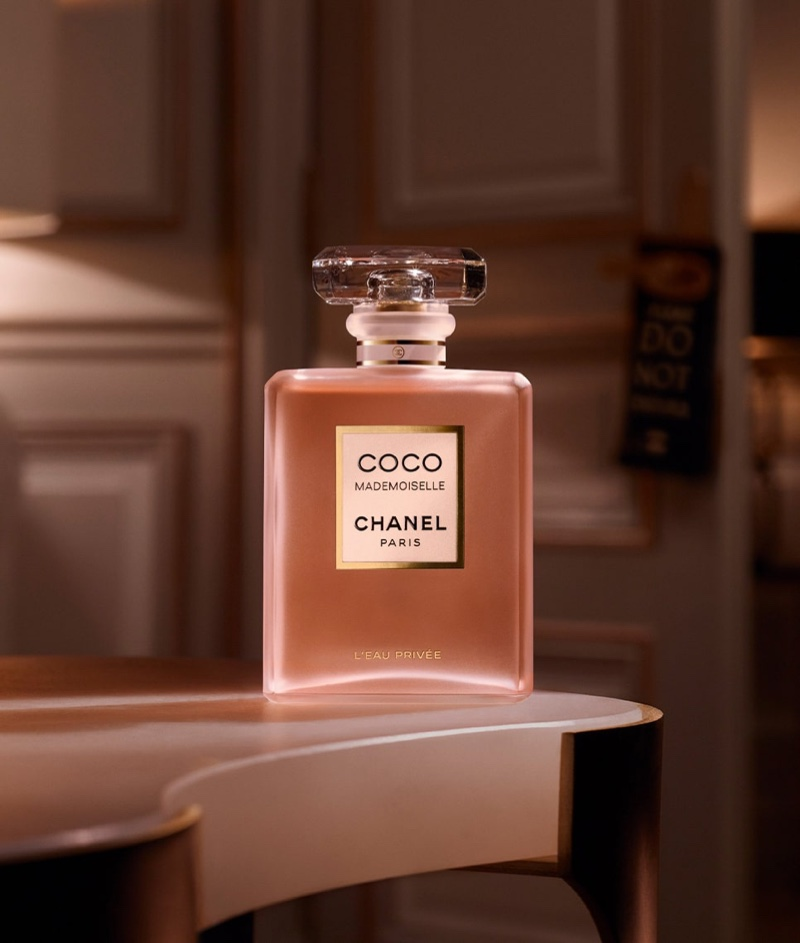 A look at Chanel's Coco Mademoiselle L'Eau Privée fragrance bottle.