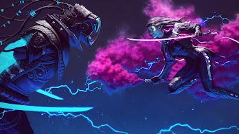 Cyberpunk, Sci-Fi, Fight, Digital Art, 4K, #130