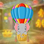 Games4King Balloon Baby Elephant Escape