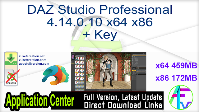 DAZ Studio Professional 4.14.0.10 x64 x86 + Key