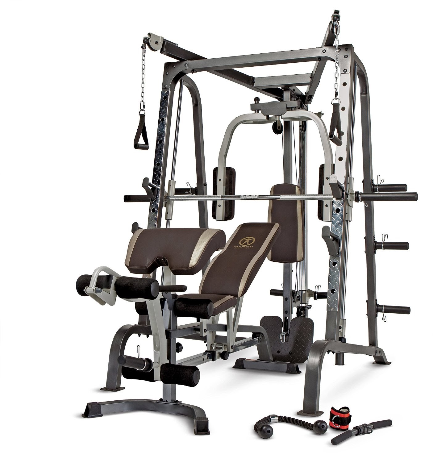 Health and fitness den marcy diamond elite smith cage for Home designs by marcy