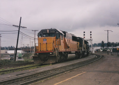 Union Pacific SD50 #5031 in Vancouver, Washington, in March, 1997