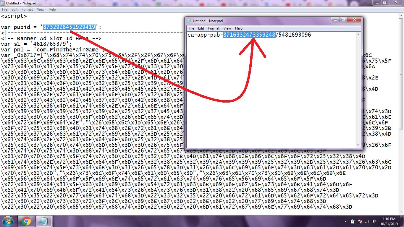 notepad code