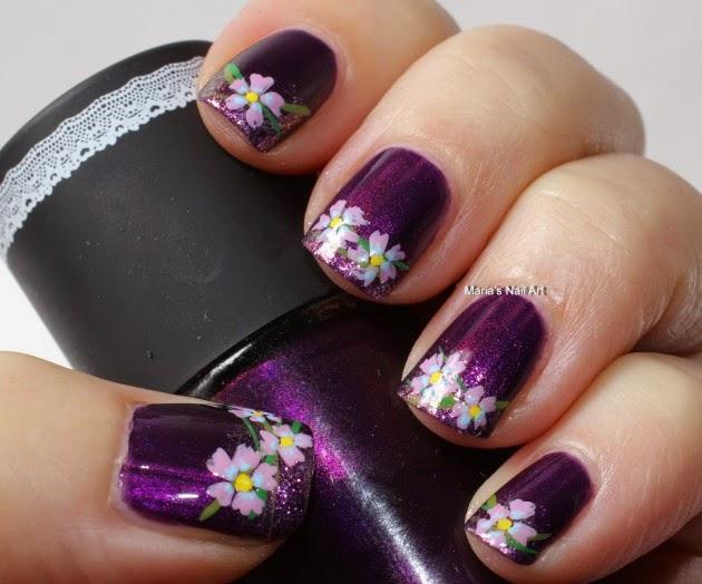 Tendencia en Diseño de Uñas - Uñas Decoradas de color Purpura ...