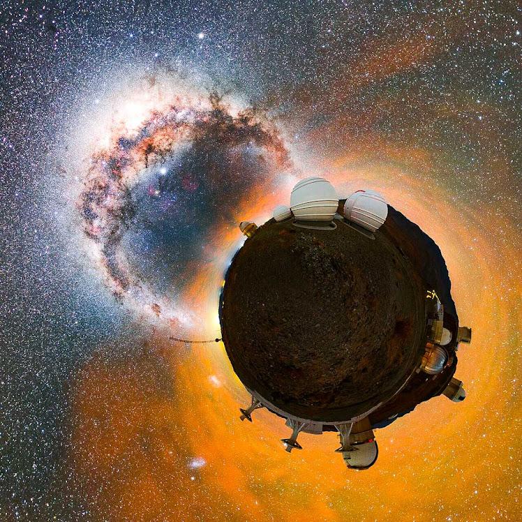 O 'planeta' La Silla e a Via Láctea