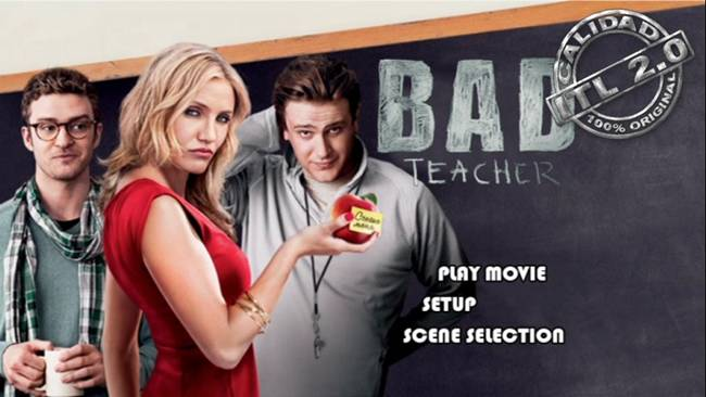 Bad Teacher DVDR Menu Full [Subtitulos Español] ISO [2011]