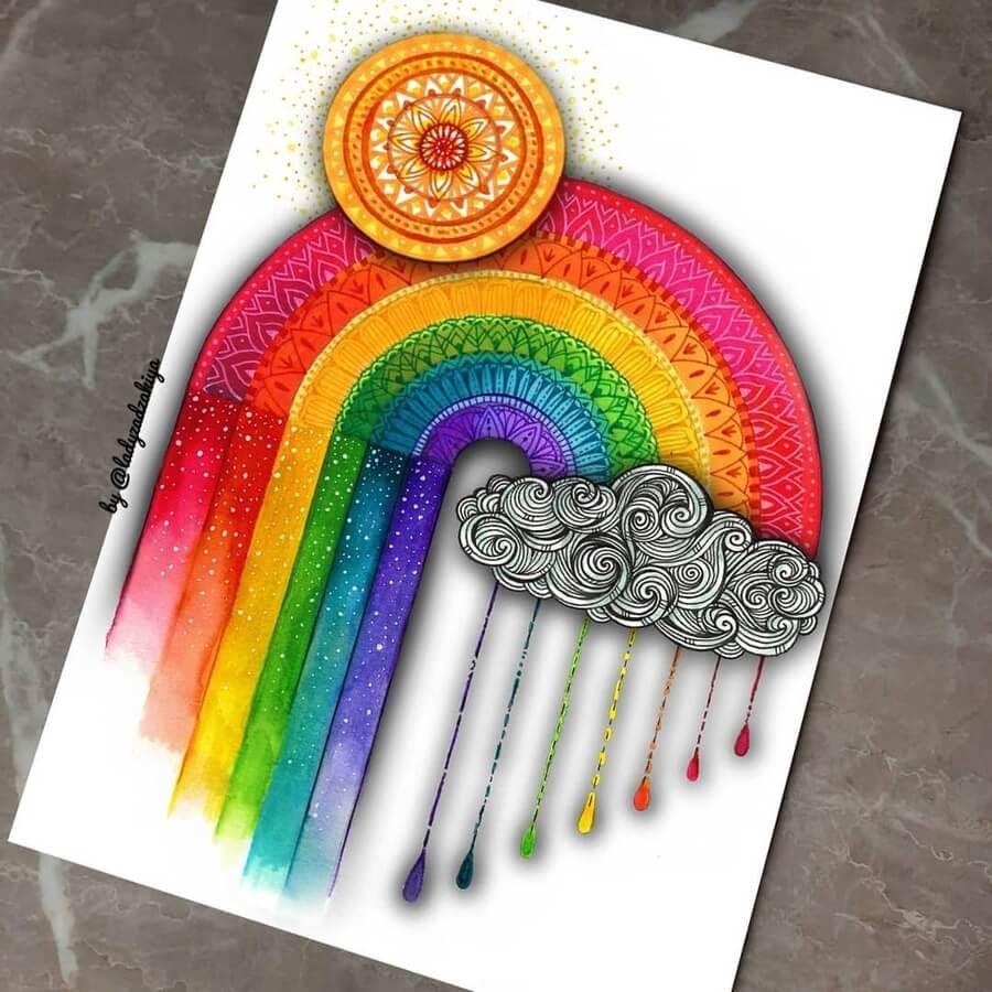 11-Rainbow-and-rain-ZSH-www-designstack-co