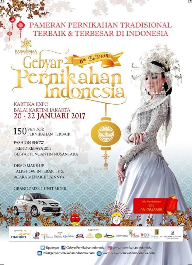 Gebyar Pameran Pernikahan Tradisional Terbaik & Terbesar di Indonesia 2017