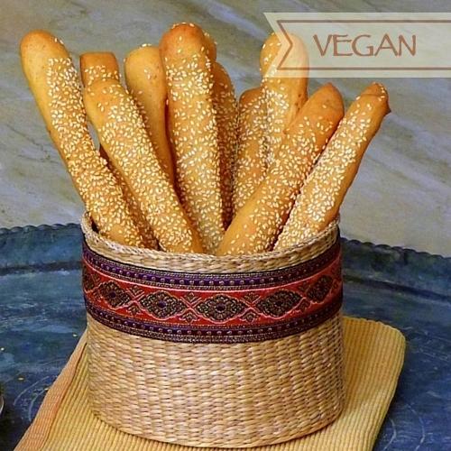 Ägyptische Brotstangen (Grissini) mit Sesam - Ba'assumat