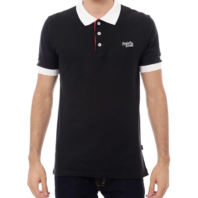 Kaos Polo Shirt Kerah Pria Premium Snow Black