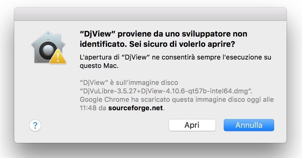 come avviare djview e aprire file djvu su MAC