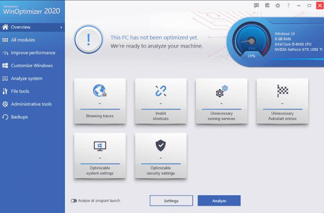 اشامبو وين اوبتميزر مجانا للكمبيوتر