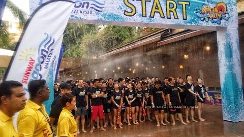 Keseronokan Cabaran Di Sunway Lagoon Aqua Run
