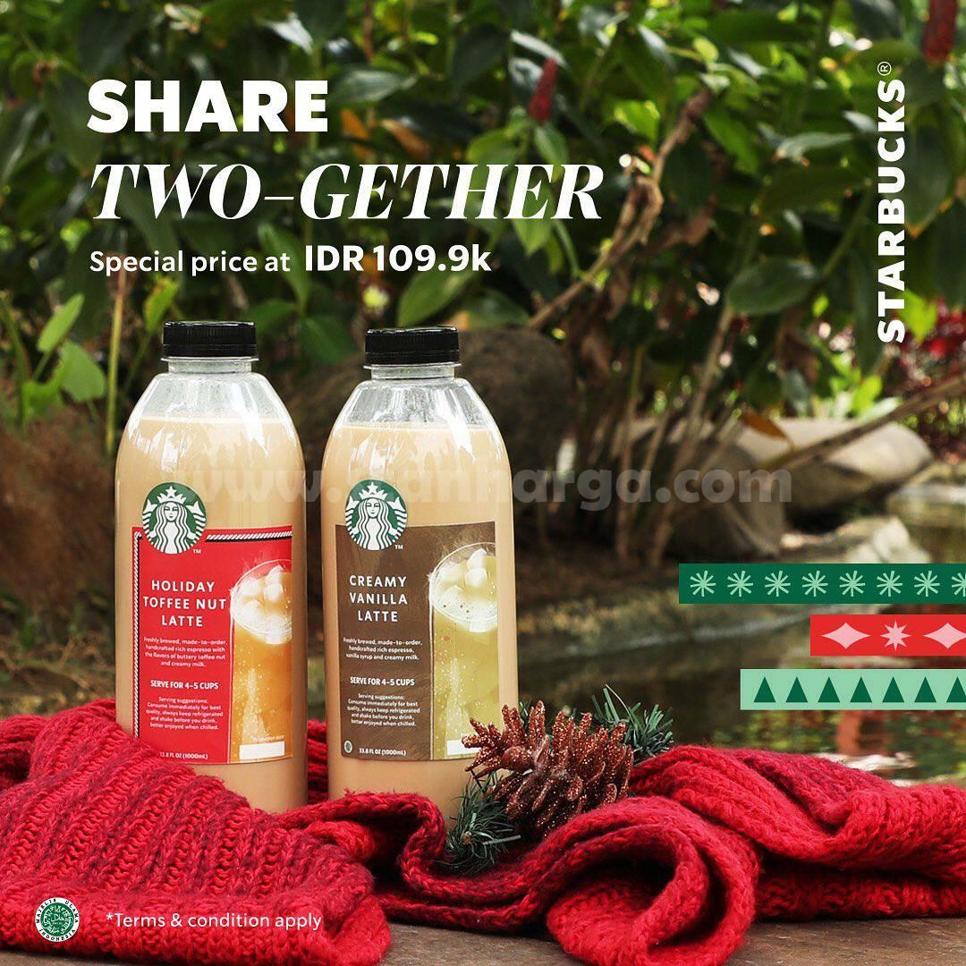 Starbucks Share 2 Gether: Kemasan Paket 1L hanya Rp109.9ribu!