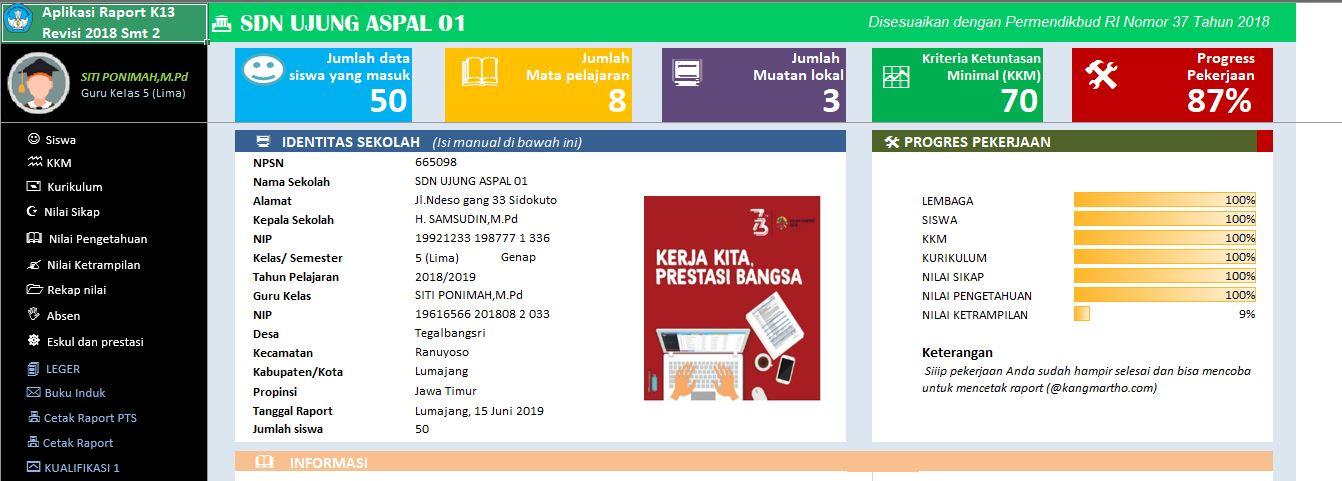 Download Aplikasi Raport K13 Kelas 1-6 SD/MI Revisi 2020