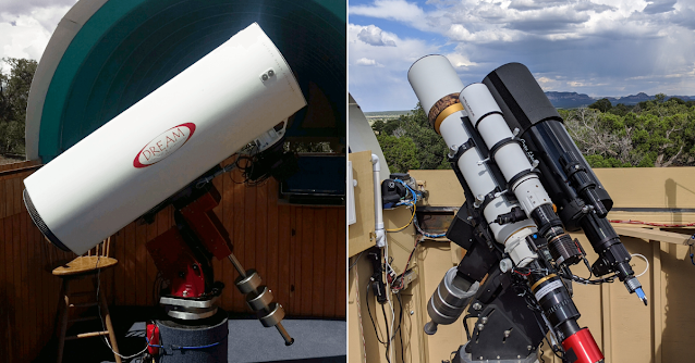 "Insight Observatory's remote telescopes ATEO-1 (left) and ATEO-2A (right) will attempt to gather image data of the ""Great Conjunction of 2020"" from SkyPi Remote Observatory on the evening of December 21, 2020."