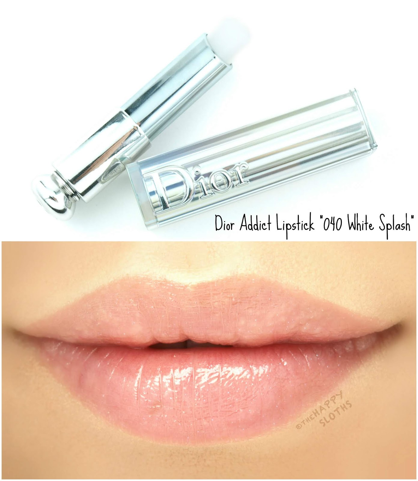 "Dior | Summer 2018 Dior Addict Lipstick in ""040 White Splash"": Review and Swatches"