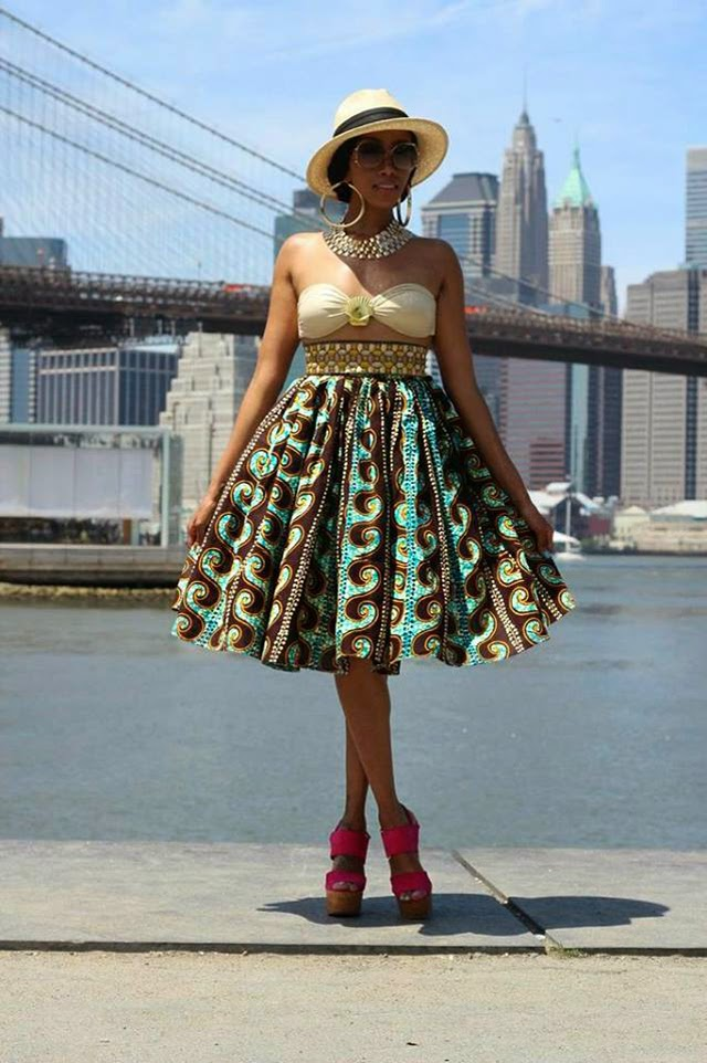 Jupe en pagne-africain-African print skirt by Jinaki via ciaafrique.com