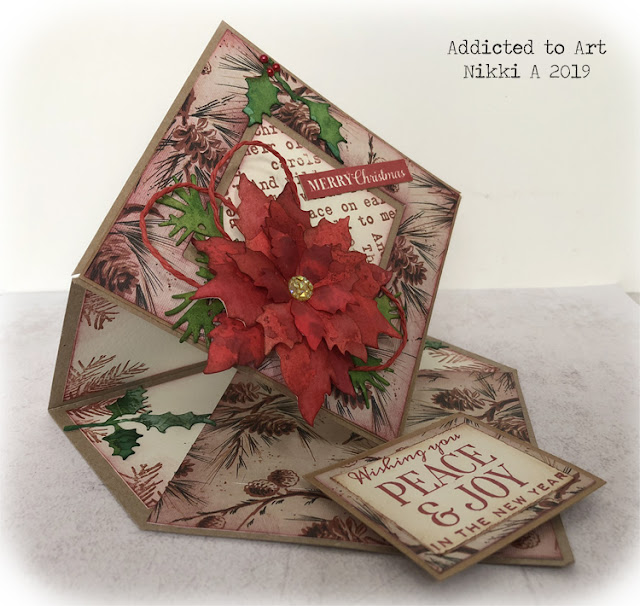 Vintage style Easel Card with Tim Holtz