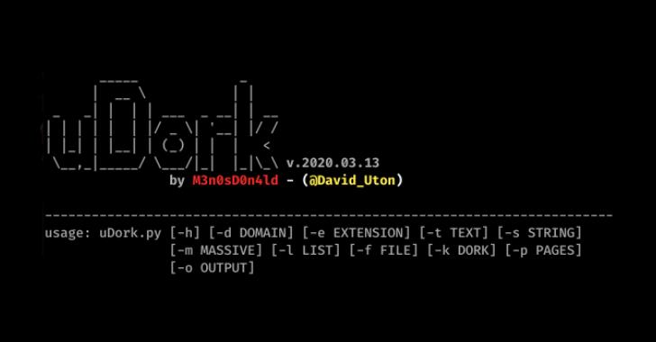 uDork – Google Hacking Tool