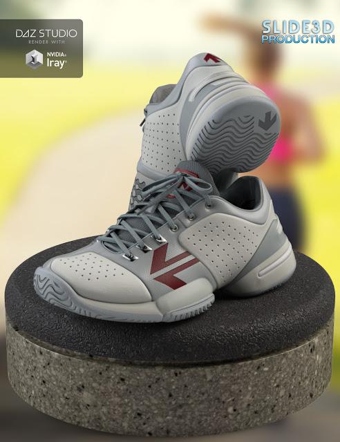 Slide3D Real Sneakers II for Genesis 3 Female