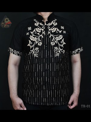 Kemeja Batik Slimfit Kombinasi Tambangraras