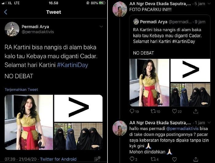 Provokasi Cadar vs Kebaya di Hari Kartini, Abu Janda Akhirnya Kena Batunya, Diamuk Warganet