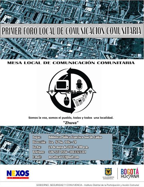 Afiche Foro Local de comunicación