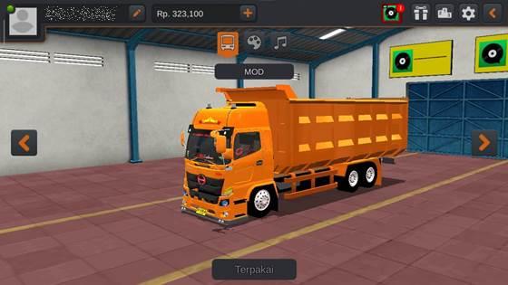 Livery Hino 500 Orange Dumptruck