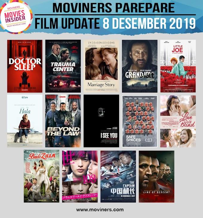 FILM UPDATE 8 DESEMBER 2019