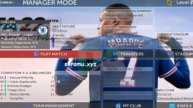 FTS Mod Special Fifa 22 Full Eropa (295MB) New Update Kits & Transfer 21/22 by Gila Game