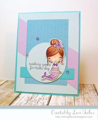 Wishing You a Fin-tastic Day card-designed by Lori Tecler/Inking Aloud-stamps from Reverse Confetti
