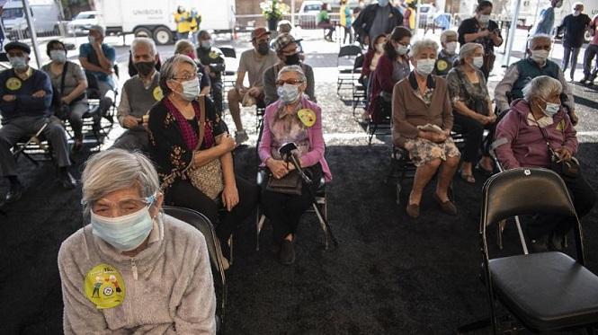 Chile lidera en Sudamérica en cantidad de vacunados